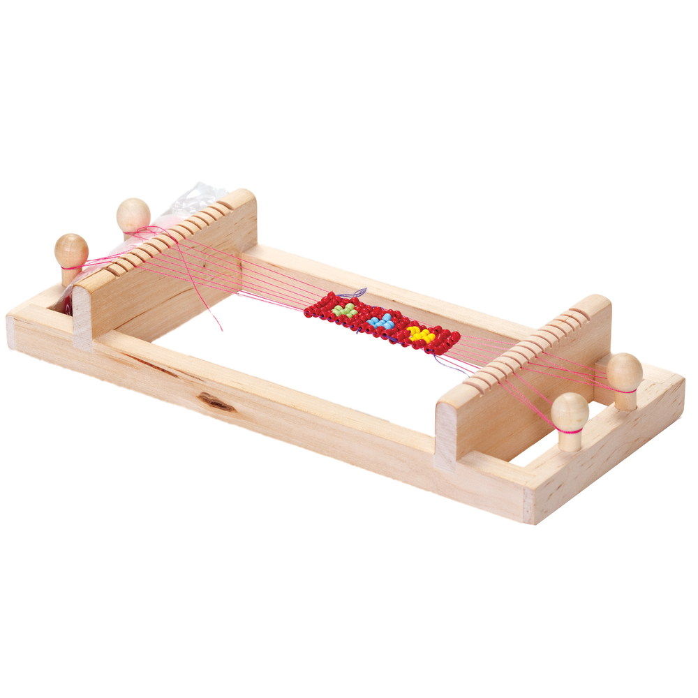wooden bead loom kit make bead jewelley and trinkets